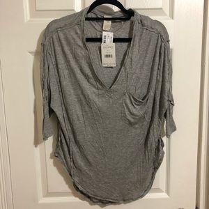 Off the Shoulder Grey Shirt